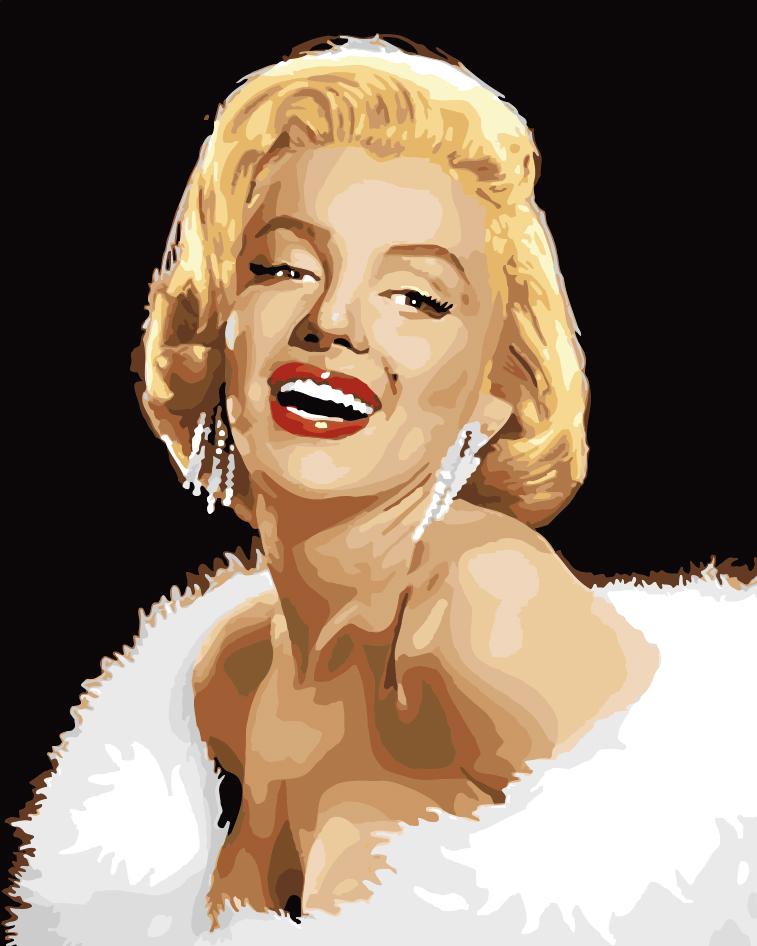 -картина-DIY-diy-цифровая-живопись-маслом-Сексуальная-Мэрилин-Монро-40-50-краска-по-количеству-комплектов Портреты по номерам