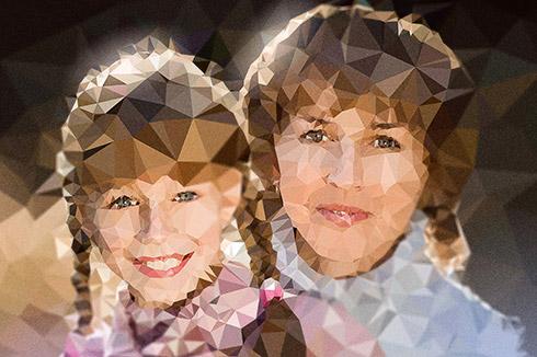 13 Полигональный портрет ( на холсте)