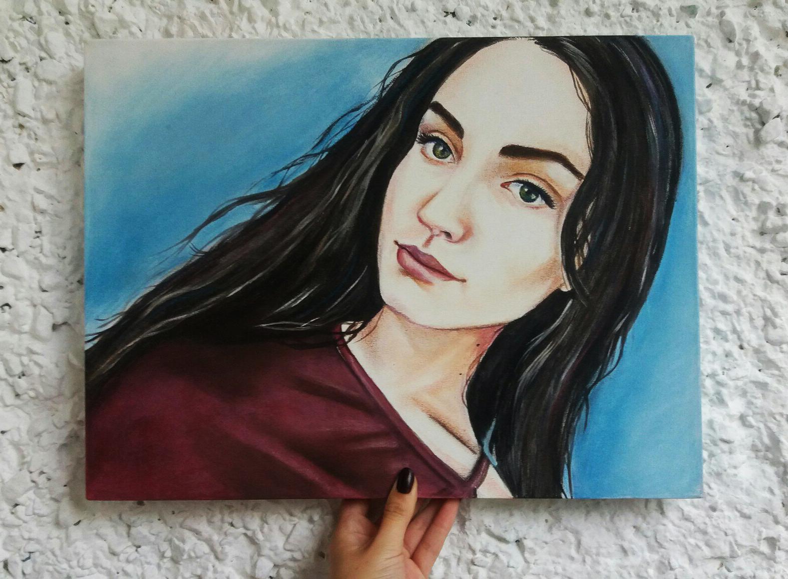 6N1wNQwCzHk Портреты цветной пастелью
